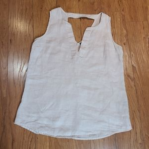 Harve Benard sleeveless washable linen top